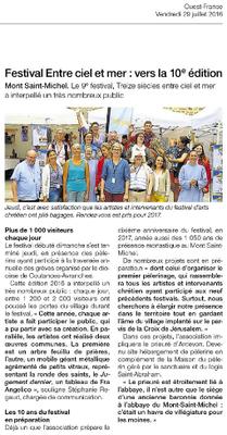 Ouest France - 29 juillet 2016