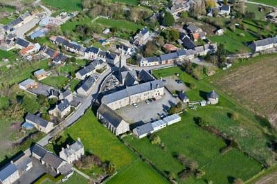 Le prieuré vu du ciel